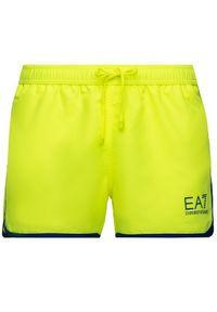 Żółte szorty EA7 Emporio Armani