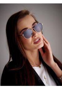 ROVICKY - Okulary przeciwsłoneczne polaryzacyjne ochrona UV Rovicky. Kształt: okrągłe. Materiał: guma