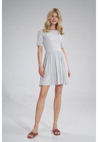 e-margeritka - Sukienka wiskozowa na lato rozkloszowana - s. Materiał: wiskoza. Wzór: melanż. Sezon: lato. Typ sukienki: rozkloszowane
