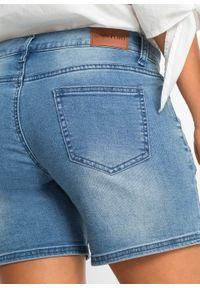 Niebieskie jeansy bonprix z haftami, na lato