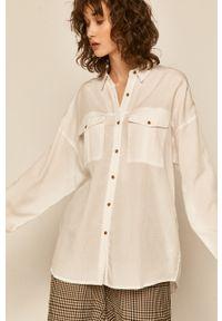 Biała koszula medicine casualowa, długa
