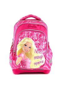 Barbie Plecak szkolny , napis Nigdy więcej blasku. Wzór: napisy