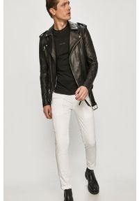 Białe spodnie Calvin Klein Jeans gładkie