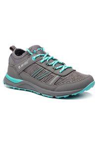 Szare buty trekkingowe Hi-tec z cholewką