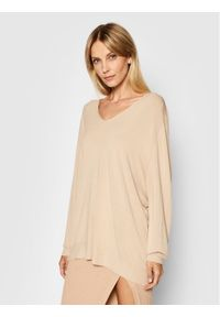 Kontatto Sweter 3M7215 Beżowy Oversize. Kolor: beżowy