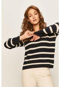 Niebieski sweter ANSWEAR casualowy, na co dzień