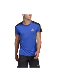 Adidas - Koszulka męska do biegania adidas Own The Run Tee FT1431. Materiał: skóra, poliester, materiał. Długość rękawa: krótki rękaw. Długość: krótkie. Sport: bieganie