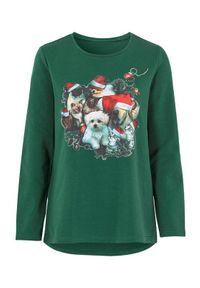 Zielony sweter Cellbes z długim rękawem, długi