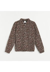 Reserved - Żakardowa bluza - Kremowy. Kolor: kremowy. Materiał: żakard