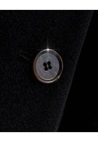 NANUSHKA - Czarny płaszcz dwurzędowy Lana. Okazja: na co dzień. Kolor: czarny. Materiał: wełna, jedwab. Sezon: jesień. Styl: elegancki, casual, klasyczny