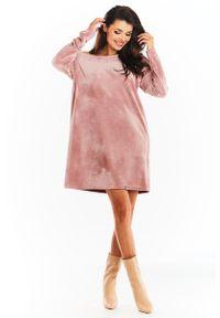 Różowa sukienka Awama mini