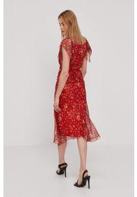 Nissa - NISSA - Sukienka. Materiał: tkanina. Długość rękawa: krótki rękaw. Typ sukienki: rozkloszowane