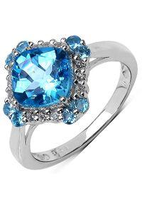 Braccatta - NELL BLUE Srebrny pierścionek zaręczynowy niebieski topaz 3 ct. Materiał: srebrne. Kolor: srebrny, niebieski, wielokolorowy. Kamień szlachetny: topaz