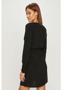 Czarna sukienka only casualowa, z długim rękawem