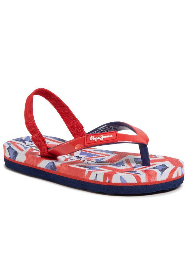 Czerwone sandały Pepe Jeans