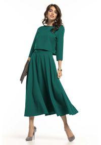 Zielona bluzka Tessita krótka, elegancka