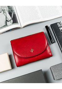 MILANO DESIGN - Portfel damski czerwony Milano Design SF1839-ML RED. Kolor: czerwony. Materiał: skóra ekologiczna
