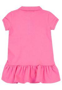 Różowa sukienka Polo Ralph Lauren casualowa, polo, prosta