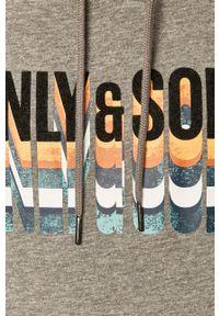 Only & Sons - Bluza. Okazja: na co dzień. Kolor: szary. Wzór: nadruk. Styl: casual