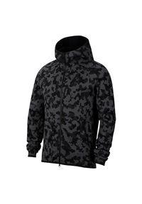 Bluza męska Nike Tech Fleece Hoodie CJ5975. Typ kołnierza: kaptur. Materiał: tkanina, bawełna, poliester. Długość rękawa: raglanowy rękaw