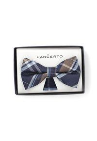 Muszka Lancerto na spotkanie biznesowe, w kratkę, biznesowa