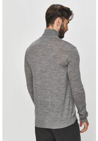Szary sweter Tailored & Originals casualowy, melanż, z długim rękawem