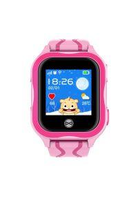 Różowy zegarek FOREVER elegancki, smartwatch