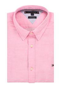 Różowa koszula casual TOMMY HILFIGER