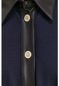 Liviana Conti - Sukienka. Okazja: na co dzień. Kolor: niebieski. Materiał: dzianina. Długość rękawa: długi rękaw. Wzór: gładki. Typ sukienki: proste. Styl: casual