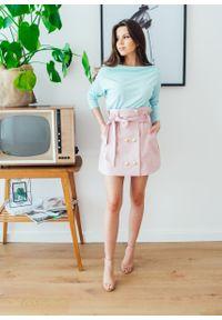 Różowa spódnica Fanaberia.com na lato, na spacer