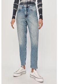 Niebieskie jeansy loose fit only casualowe, na co dzień