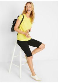 Shirt boxy, krótki rękaw bonprix żółty ananasowy. Kolor: żółty. Materiał: bawełna. Długość rękawa: krótki rękaw. Długość: krótkie