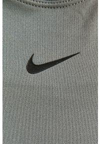 Szary top Nike sportowy, gładki