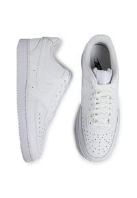 Białe półbuty Nike klasyczne, z cholewką, na co dzień