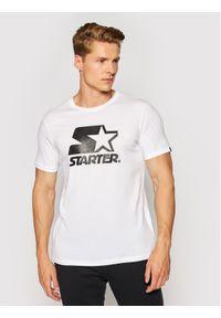 Starter T-Shirt SMG-008-BD Biały Regular Fit. Kolor: biały