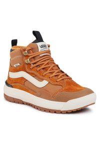 Vans - Sneakersy VANS - Ultrarange Exo Hi VN0A4UWJ26Z1 (Mte) Pumpkin Spice. Okazja: na co dzień. Kolor: brązowy. Materiał: zamsz, skóra, materiał. Szerokość cholewki: normalna. Sezon: lato. Styl: casual