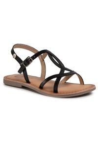 Gioseppo - Sandały GIOSEPPO - Biscoe 58752 Black. Zapięcie: pasek. Kolor: czarny. Materiał: skóra. Wzór: paski. Sezon: lato. Styl: wakacyjny, młodzieżowy