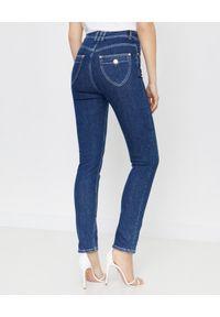 Balmain - BALMAIN - Niebieskie jesnsy skinny fit. Stan: podwyższony. Kolor: niebieski. Styl: elegancki