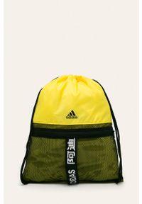 Żółty plecak adidas Performance z nadrukiem