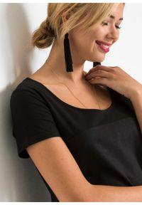 Sukienka lniana bonprix czarny. Kolor: czarny. Materiał: len