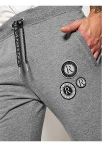 Rage Age Spodnie dresowe Hattric 3 Szary Slim Fit. Kolor: szary. Materiał: dresówka