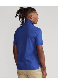 Niebieskie polo z krótkim rękawem Ralph Lauren w kolorowe wzory, polo