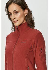 columbia - Columbia - Bluza. Okazja: na co dzień. Kolor: czerwony. Materiał: tkanina. Wzór: gładki. Styl: casual