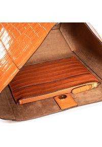 Pomarańczowa torebka klasyczna Lauren Ralph Lauren