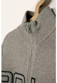 Szary sweter Polo Ralph Lauren polo, na co dzień, casualowy