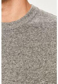 Only & Sons - Sweter. Okazja: na co dzień. Kolor: szary. Materiał: dzianina. Długość rękawa: długi rękaw. Długość: długie. Styl: casual