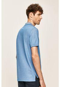 Niebieska koszulka polo Izod krótka, polo