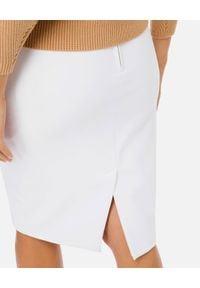 Elisabetta Franchi - ELISABETTA FRANCHI - Biała spódnica ołówkowa. Okazja: na co dzień. Kolor: biały. Styl: casual, elegancki