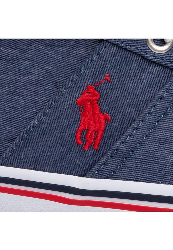 Niebieskie półbuty Polo Ralph Lauren na co dzień, z cholewką