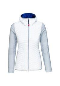 Biała kurtka narciarska Rossignol z kapturem